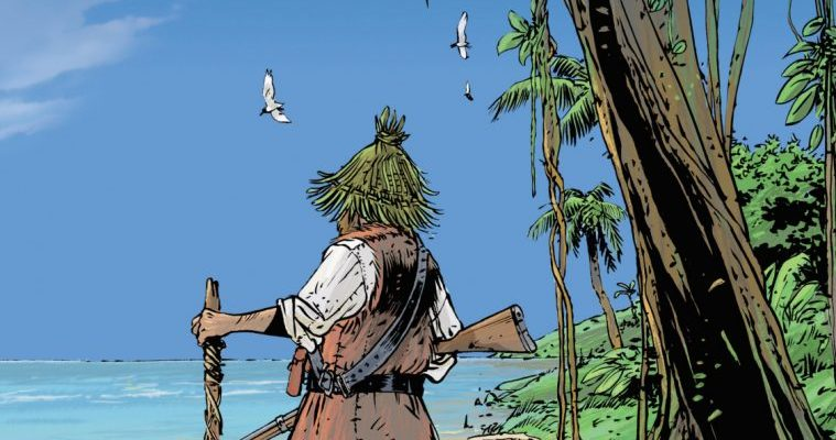Очень краткое содержание книги Приключения Робинзона Крузо