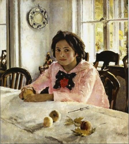 Краткая история создания картины «Девочка с персиками»