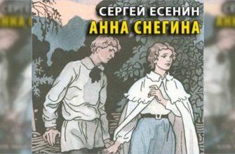 """Краткая история создания поэмы """"Анна Снегина"""" С.А. Есенина"""