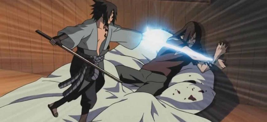 В какой серии Саске убил Орочимару