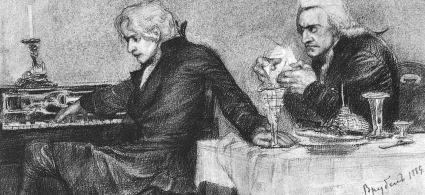 """Краткая история создания трагедии """"Моцарт и Сальери"""" Пушкина"""