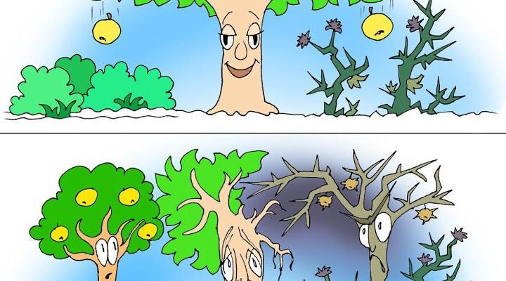 """Смысл пословицы """"Яблоко от яблони недалеко падает"""""""