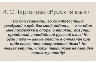 """Смысл стихотворения Тургенева """"Русский язык"""""""