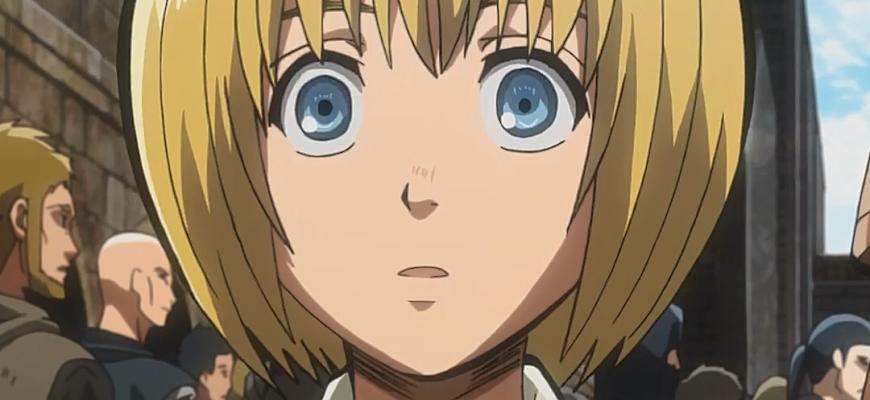 В какой серии аниме-фильма Армин стал Титаном