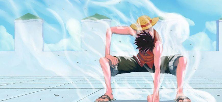 В какой серии Луффи использует 1 гир аниме One Piece