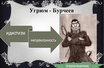 Характеристика героя Угрюм Бурчеев